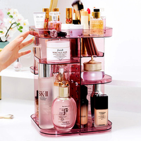 Makeup Organizer Desk Accessories Organizer Jewelry Storage Plastic Boxes Make up Brush Cosmetic Display Shelf