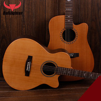 Bullfighter Guitar Single Board 40 Inch Ballad Wooden Acoustic Guitar Adult Beginners Introduction Electric Box Guitar