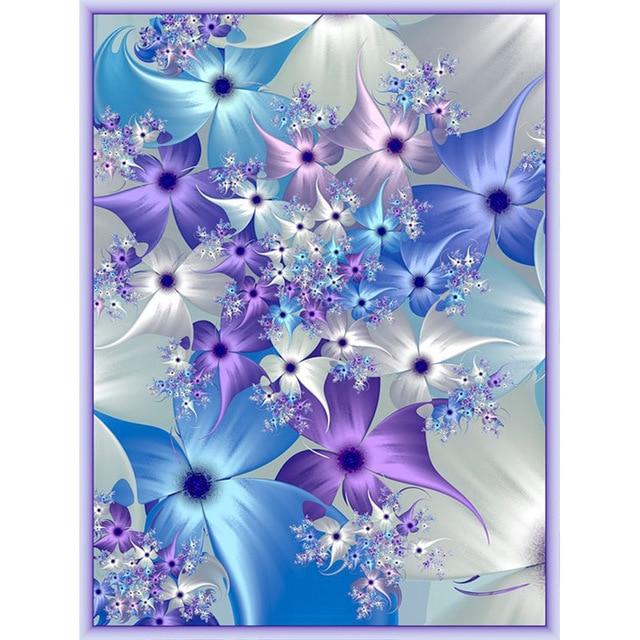 יהלומי ציור צבע פרחים כיכר/עגול יהלומי רקמת תפר צלב קיר ציור אהבה מתנה
