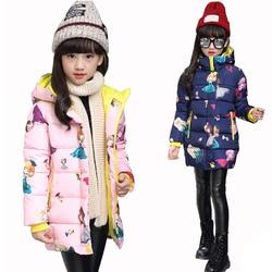 Chaqueta para niñas 2018 chaqueta de invierno para niñas abrigo para niños Abrigo con capucha ropa para niños ropa infantil niña Chaqueta de algodón acolchada