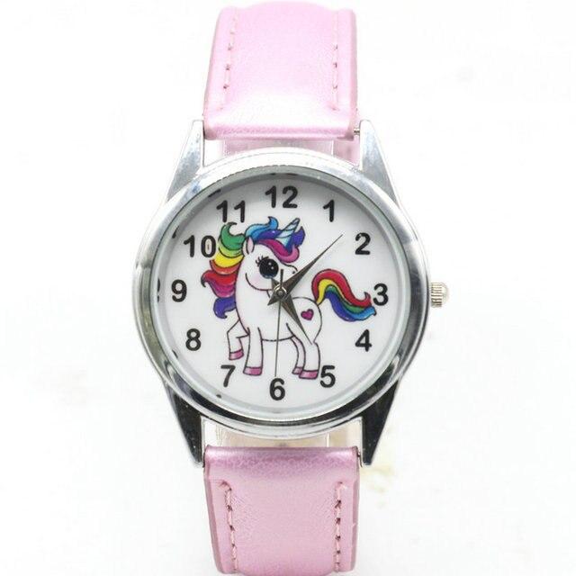 884b8729a1e Relógios de Pulso Das Senhoras Meninas Relógio Bonito do Animal Dos  Desenhos Animados das mulheres Unicórnio