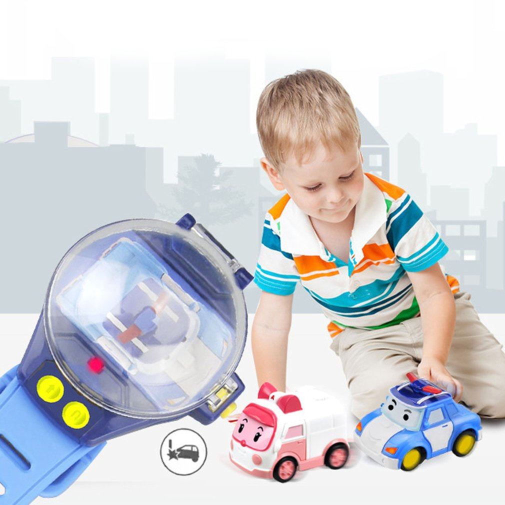 Newest RC Mini Cartoon Car Gravity Sensing Remote Control Toy Cars with Rechargeable Watch Toy for Children Boys Girls Gift 2018