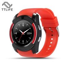 TTLIFE Marke V8 Smart Uhr Mit Sim-tf-karte Slot Bluetooth Konnektivität für Apple iPhone Android Telefon Pk tw2 Smartwatch