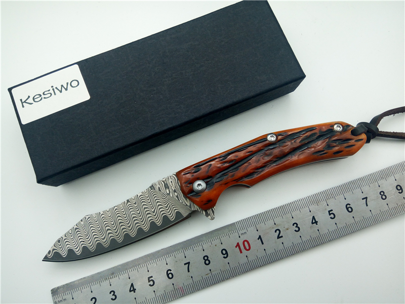 все цены на KESIWO V04 Damascus+VG10 Blade Tactical Folding Knife Outdoor Utility Pocket Camping Survival Knife Hunting Hand Tool Knives