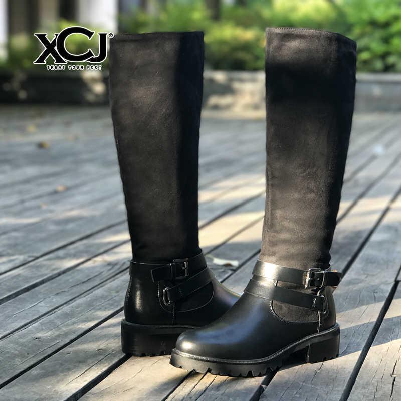 ... Женская зимняя обувь, брендовые кожаные сапоги до колена, женская обувь  высокого качества, женские ... 7b044e5dd0b