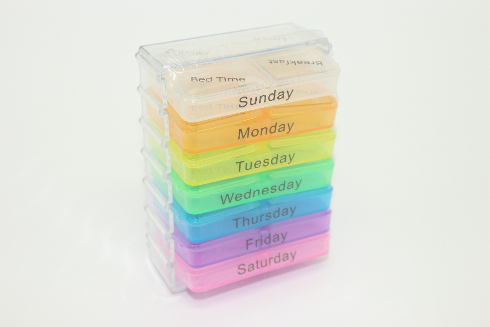 Medicine Weekly Storage Pill 7 Day Tablet Sorter Box Container Case Organizer Health Care