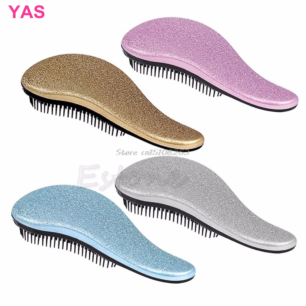 1PC Magic Handle Tangle Detangling Kam Hair Shower Brush Styling Salon Tamer # Y207E # Hot Sale