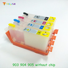Vilaxh For HP For HP 903 904 905 refillable ink cartridge for HP OfficeJet 6950 6956 OfficeJe t Pro 6960 6970 for HP903 without