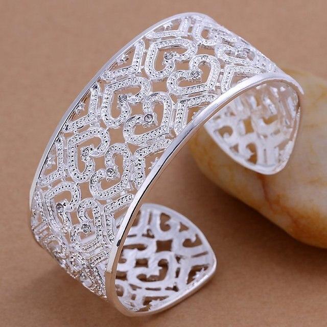 Promotion.Free Shipping 925 Sterling Silver Jewelry.Wholesale Beautiful Fashion Bracelet B166