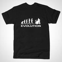 Summer Mens T Shirt Bodybuilding Undershirt Fitness Men Drummer Evolution Funny Music Humor Drums T Shirt