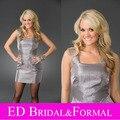 Carrie Underwood Dress Grey Taffeta Short Celebrity Cocktail Party Gown vestido de festa de casamento