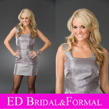 Carrie Underwood Kleid Grau Taft Kurze Berühmtheits-cocktailparty-kleid vestido de festa de casamento