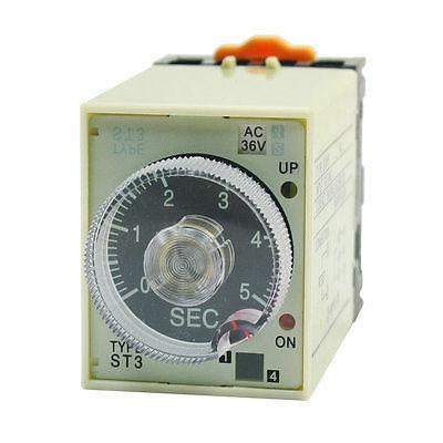 8Pin SPDT 5s Adjustable Timer Time Delay Relay AC36V w Plug in Socket jss20 48ams number show time relay 0 01s 9990h time base adjustable ac220v goods in stock
