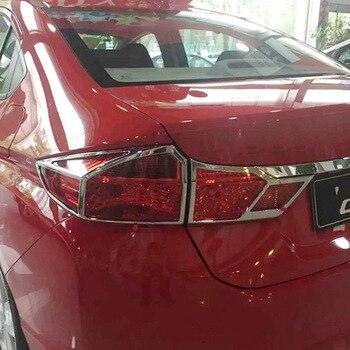 ABS Cromato Per Honda City 2015 Auto copertura della Luce Posteriore Della Copertura Trim accessori auto car styling 4pcs