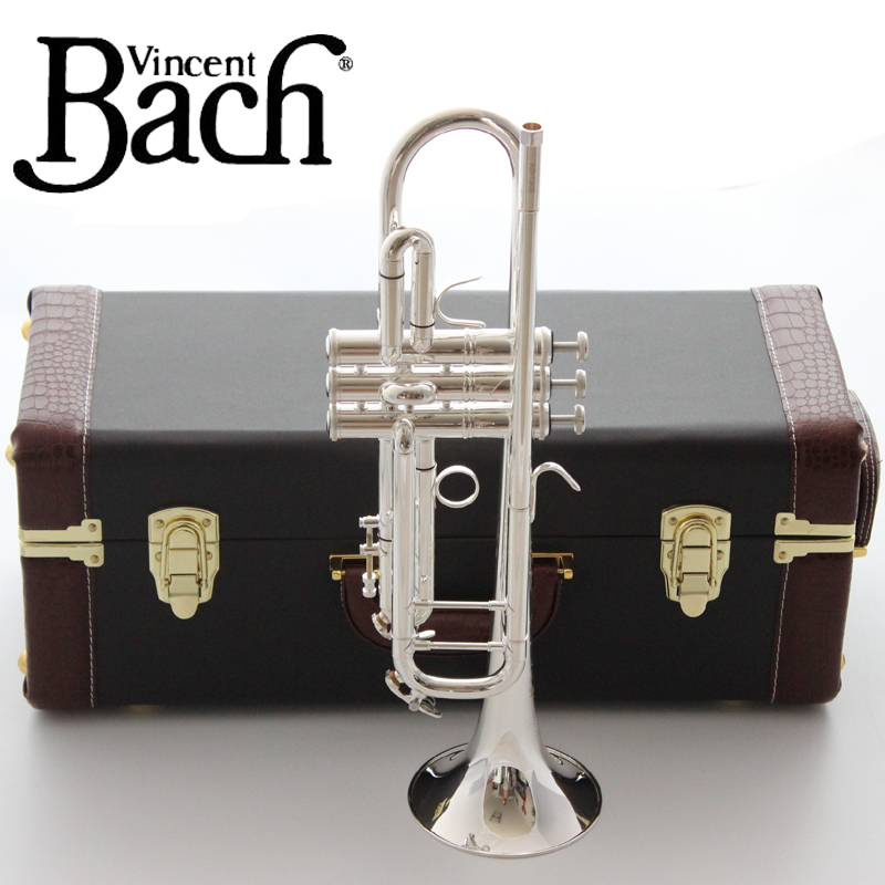 Musical Instruments Professional Sale New Bach Bb Trumpet Lt190s-37 Silver Plated Music Instruments Profesional Trumpets Included Case Mouthpiece Accessories