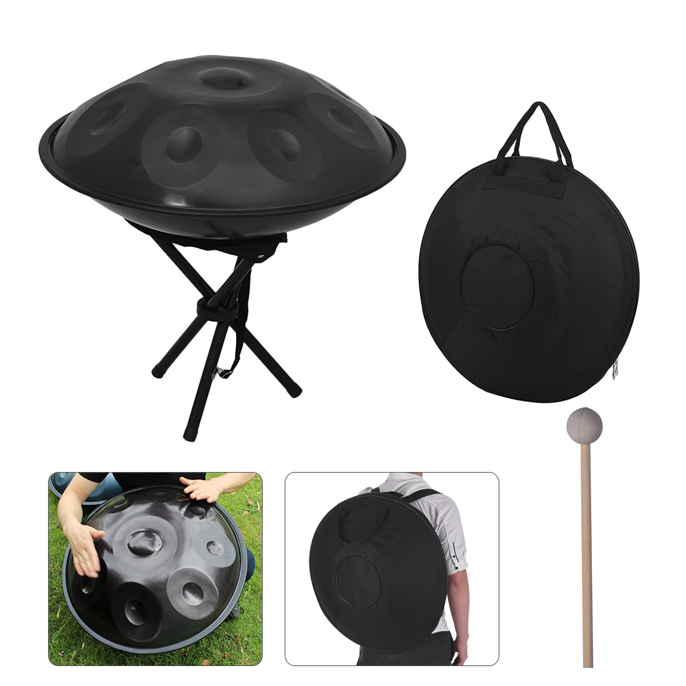 9 Notes Hand Pan Handpan Hand Drum Carbon Steel Material Percussion Instrument Drum with Carry Bag