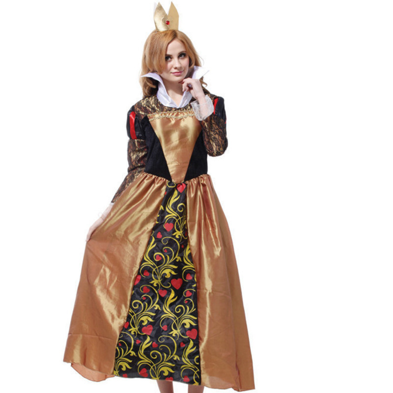 cosplay Party Fancy Dress halloween costumes for women plus size red queen alice and wonderland costume adult red queen's dress