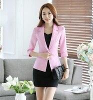 อย่างเป็นทางการสีชมพูเสื้อผู้หญิงธุรกิจกับชุดกระโปรงและแจ็คเก็ตชุดสุภาพสตรีที่สง่างาม...