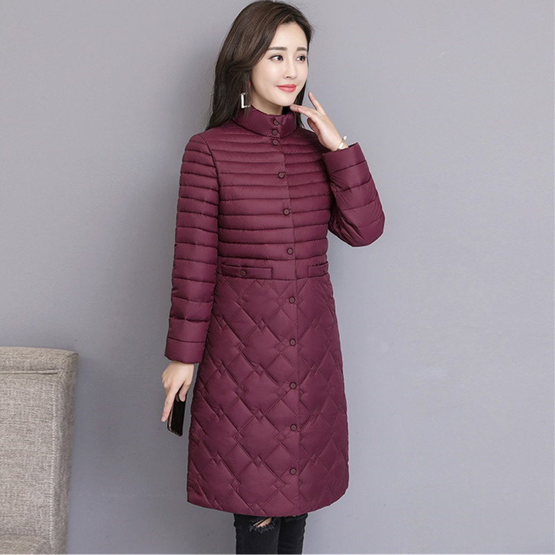 En La Hiver 193 Outwear Single Manteau Parka Purple Femelle Nouveau Vers Bas Rembourré Long Le Veste Vestes breasted 2018 Green Femmes dark Coton sauce orange Black Plus Yagenz Taille w6qBt5w