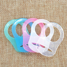 Chenkai 10pcs Transparent Silicone Pacifier Rings DIY Clear Baby Mam NUK Dummy Teether Adapter O Toy Accessories