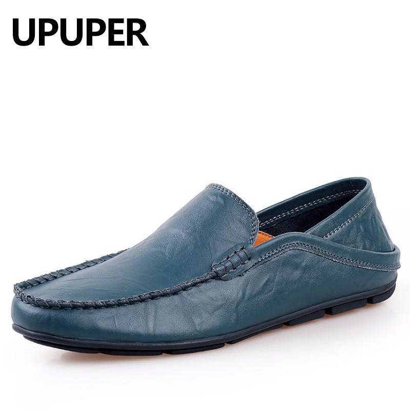 Genuine Leather Cowhide Men's Casual Shoes Soft Bottom Breathable Men Loafters Spring Autumn Comfortable Driving Shoes Plus Size men casual shoes cowhide soft bottom spring and summer doug shoes breathable leisure fashion british driving leather shoes