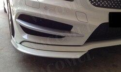Klasa splittery przedniego zderzaka z włókna węglowego Spoiler boczne światła przeciwmgielne wykończenia dla Mercedes Benz A180 A200 A250 AMG A45 13 16 w Zderzaki od Samochody i motocykle na