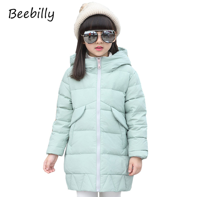 2017 New Arrival Children's Duck Down Outerwear&Coats Winter Long Warm Girls Down Jackets Coats Girls Down Jackets for -30degree