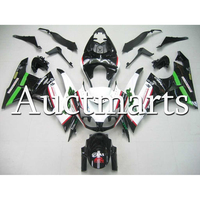 Green Black White Plastic ABS Injection Kawasaki ZX 6R 2009 2010 2011 2012 Year ABS Aftermarket Fairings For 636 Ninja Carenes