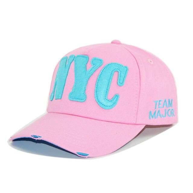 eecfe5b9f Estilo coreano Letras Esporte Curvo boné de Beisebol Sol Cap Chapéu do  Verão das Mulheres Rosa