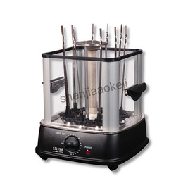 Home Electric oven indoor smokeless barbecue stove Small commercial automatic rotating BBQ machine lamb kebab machine 220v 800w