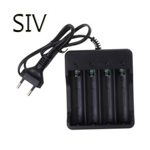 SIV Accessories Battery Charger 4 Slot Universal Rechargeable 4.2V Li-ion EU Plug Tool For 18650