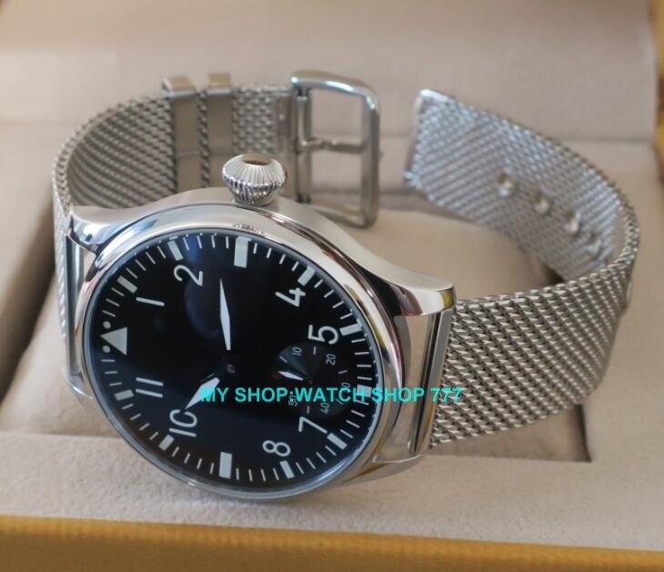 44mm PARNIS 6498/ST3621 Mechanische Hand Wind herren uhr Hohe qualität leucht Mechanische Armbanduhren-in Mechanische Uhren aus Uhren bei  Gruppe 3