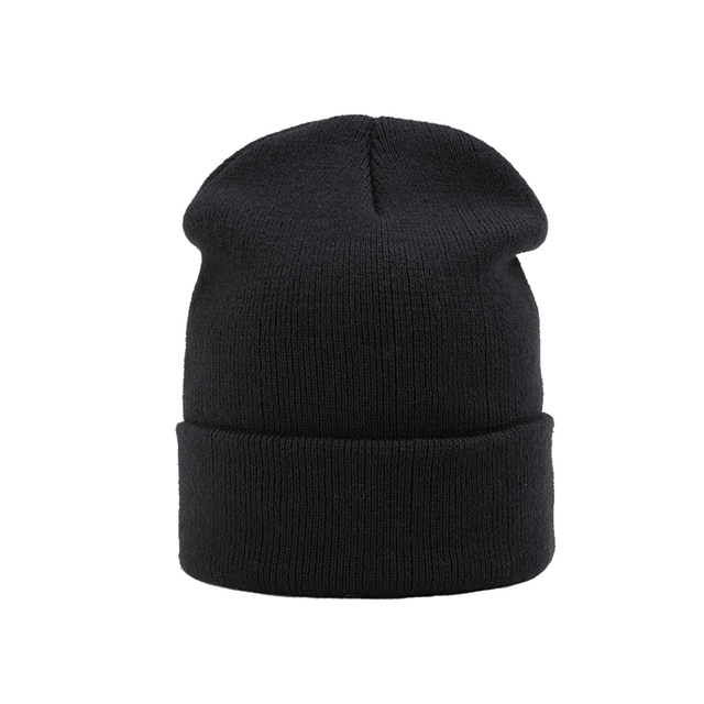 fd1bd759c43 Knitted Skullies Beanies Women Winter Hats Solid Black Beanies For Men  Ladies Hat Female Winter Outdoor