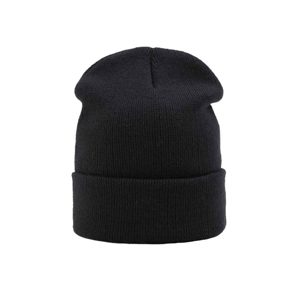 Knitted   Skullies     Beanies   Women Winter Hats Solid Black   Beanies   For Men Ladies Hat Female Winter Outdoor   Beanie   Hat Sports