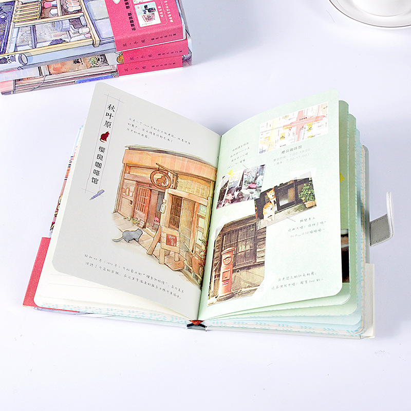 Shop Tour Hardcover Traveler Notebook Coloring Diary Book Stationery Notepad