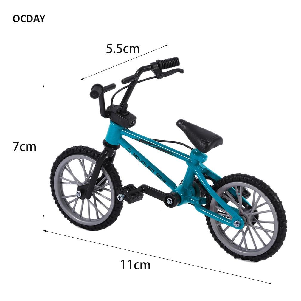 OCDAY Fingerboard sykkel Leker med bremserulle Blå simulering - Humoristiske leker - Bilde 6