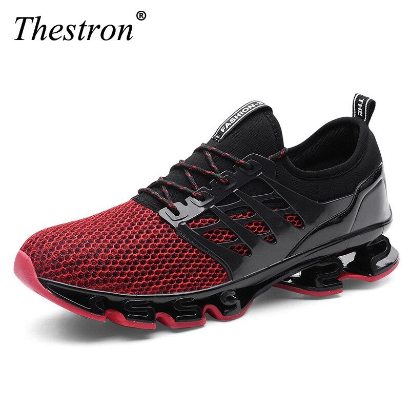 Marques chaussures de course hommes Sport baskets maille respirant haute qualité hommes Jogging chaussures athlétique mâle baskets noir rouge vert