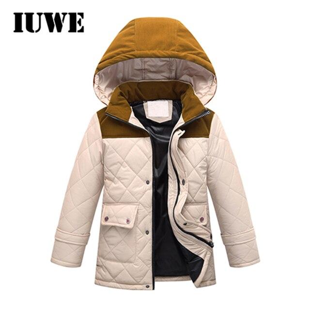 Зимние Куртки для Обувь для мальчиков теплые Водонепроницаемый ветрозащитный с капюшоном хлопок двухэтажных утолщаются Спортивная одежда Детская Верхняя одежда Куртка