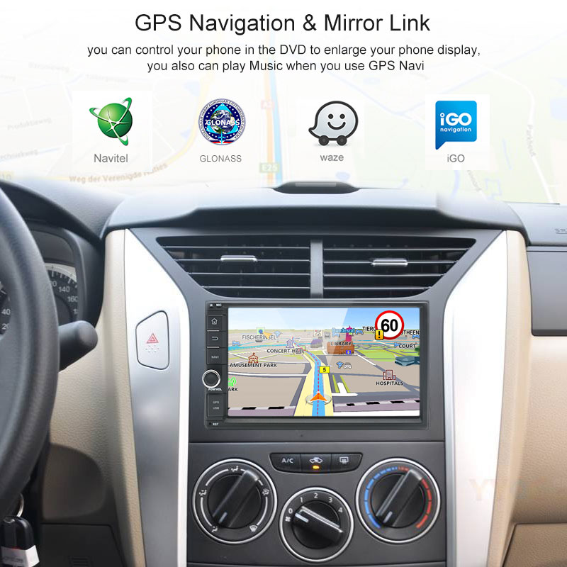 Junsun RAM 2GB 2 Din Android Car Multimedia Radio Player Universale  Intelligent System For Nissan Qashqai X-trail GPS Navigation (SUPER PROMO  July