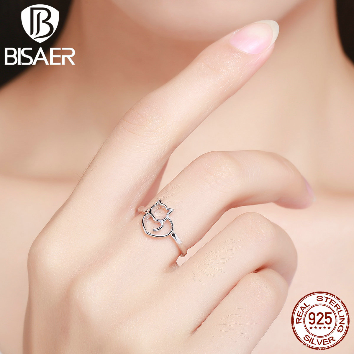 engagement jewelry new steel stainless lines open geometric c shape rings titanium product finger hollow ring