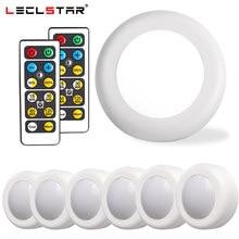Capteur tactile lumière LED sans fil, éclairage sous placard, lumière à intensité variable lumière LED, éclairage sous armoire/placard, lampe nocturne de cuisine avec télécommande