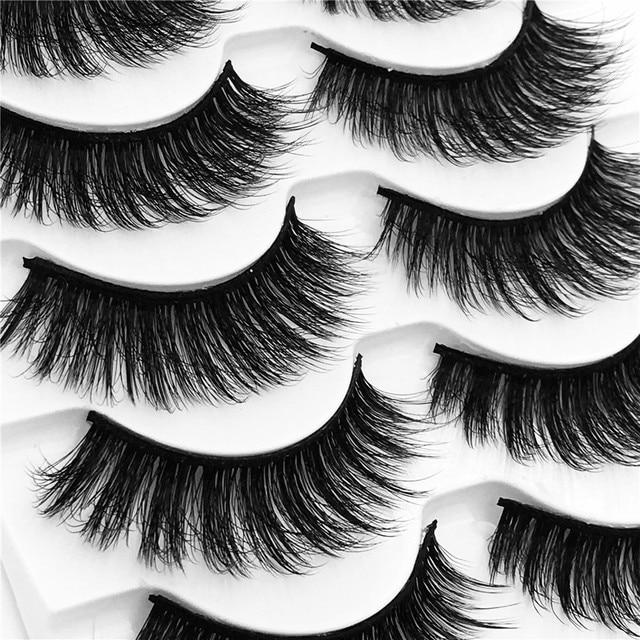49cfb92ad86 5 pairs 100% Real Fake Mink Eyelashes 3D Natural False Eyelashes 3d Mink  Lashes Soft Eyelash Extension Makeup Kit Cilios G830