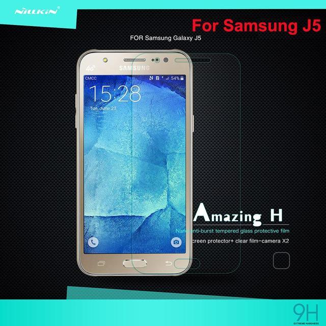 Pluma y 100% Original de Nillkin Increíble H Serie Anti-Peligro de Explosión de cristal templado Film protector de pantalla para Samsung Galaxy J5 J500 J500F