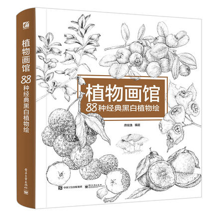 Plant Painting Gallery 88 Classic Black And White Plants Coloring Painting Drawing Book