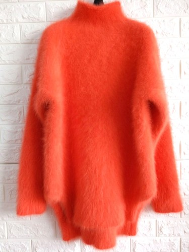 New High Necked Woolen Autumn And Winter Pure Color Warem Female Sweet Women And Lady Hairy Sweater