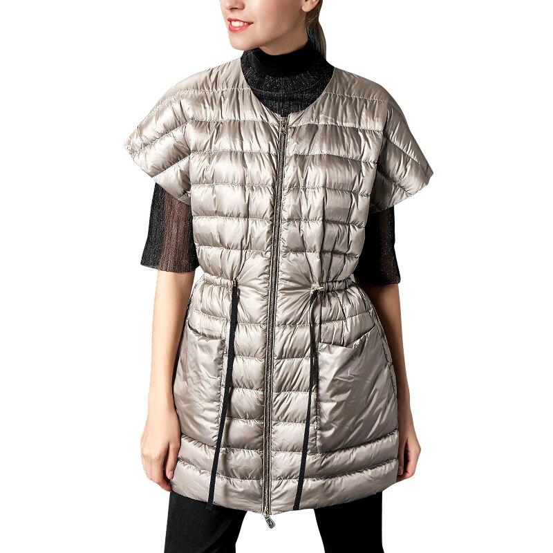 Vers Le Occasionnel Blanc Mince 90 Canard Veste Bas Hiver Lumière Femmes De Puffer Ultra Manteau Long Noir Duvet 68zOxq