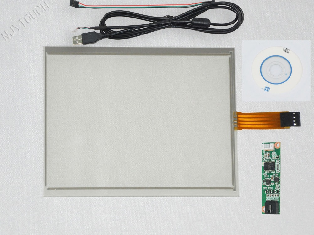 ФОТО New 6.5 inch 4 Wire Resistive Touch Screen USB Controller for G065VN01 143x117mm Screen touch panel Glass Free shipping