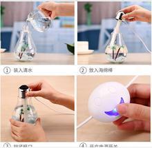 USB Humidifier Mini 7 Color Change Ultrasonic Bulb