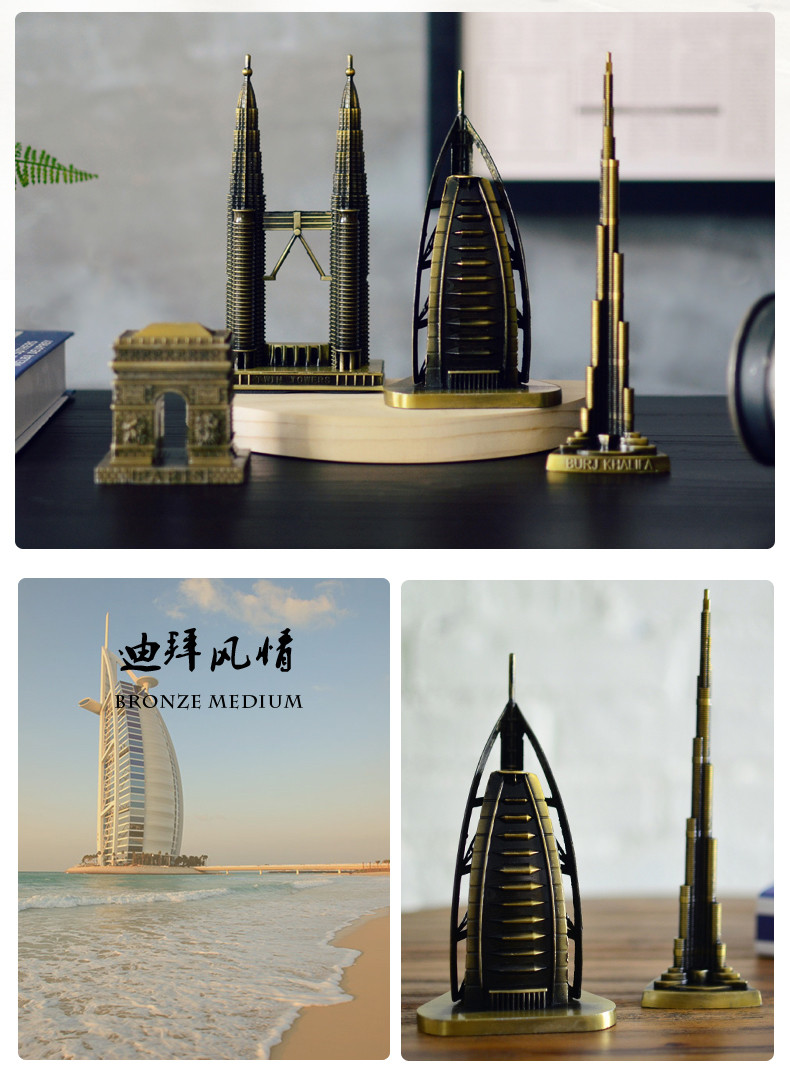 Vintage Home Decor World famous landmark Eiffel Tower in Paris building model metal crafts gifts ornaments Desktop decorations 11