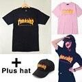 2017 Skates Thrasher T Shirt Das Mulheres Dos Homens de Verão Tee Curto Patinar Tshirts Tops Hip Hop Homens Trasher T camisas manga S-3XL